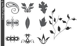 Leaves Icons Set 3 stock illustration