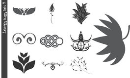 Leaves Icons Set 4 Royalty Free Stock Images