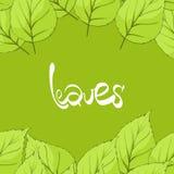 Leaves illustration Royalty Free Stock Photo