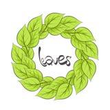 Leaves illustration Stock Images