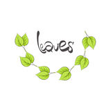 Leaves illustration Royalty Free Stock Photography
