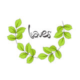 Leaves illustration Stock Photography