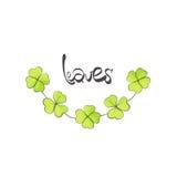 Leaves illustration Stock Photos
