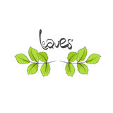 Leaves illustration Royalty Free Stock Photos