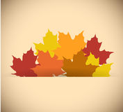 Leaves inside a paper pocket. illustration design Royalty Free Stock Photos