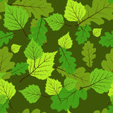 Leaves jointless pattern. Floral decorative pattern with leaves Royalty Free Stock Images