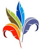 Leaves logo. Isolated line art leaves logo design Stock Photo