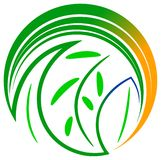 Leaves logo Royalty Free Stock Photography