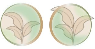 Transparent leaves logo royalty free illustration