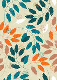 leaves mönsan seamless Arkivbilder
