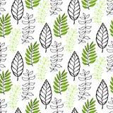 leaves mönsan seamless Säsongsbetonad bakgrund Kan användas för inpacknings-, textil-, tapet- och packedesign vektor illustrationer