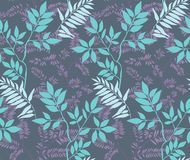 leaves m?nsan seamless stock illustrationer