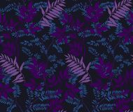 leaves m?nsan seamless vektor illustrationer