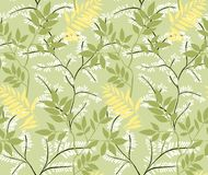 leaves m?nsan seamless royaltyfri illustrationer