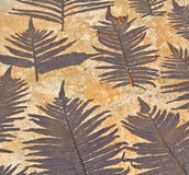 Leaves on mortar. As background Royalty Free Stock Image