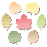 Leaves Notepads Fall Stock Photo