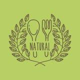 Leaves organic icon Royalty Free Stock Photos