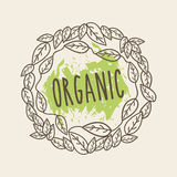 Leaves organic icon Royalty Free Stock Images