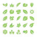 Leaf Icon Set royalty free illustration
