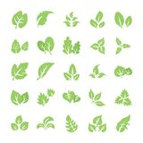 Leaf Flat Icon Pack stock illustration