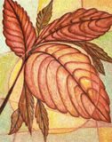 Leaves painting Stock Images