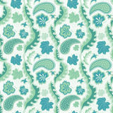 Leaves and paisley background Royalty Free Stock Image