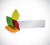 Leaves and paper banner illustration design Royalty Free Stock Photography