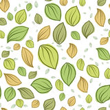 Leaves pastel color pattern seamless Stock Photo
