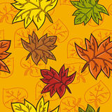 Leaves pattern. Seamless fall leaves pattern Royalty Free Stock Images