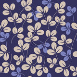 Leaves pattern. Leaves - abstract floral seamless vector pattern stock illustration