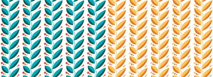LEAVES PATTERN BLUE AND YELLOW. Seamless background pattern texture. See more in my portfolio Royalty Free Stock Photos
