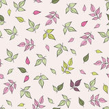 Leaves pattern. Floral seamless background. Leaf ornamental text Stock Images