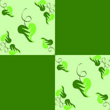 Leaves. A pattern with heart-shaped leaves stock illustration