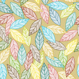 Leaves pattern seamless Stock Image