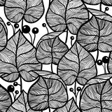 Leaves pattern. Seamless leaf pattern. Stock Photos