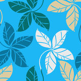 Leaves pattern seamless Royalty Free Stock Photo