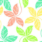 Leaves pattern seamless Royalty Free Stock Images