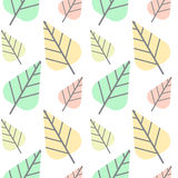 Leaves pattern seamless Stock Photography