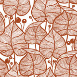 Leaves pattern. Seamless red leaf pattern Royalty Free Stock Photos