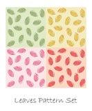Leaves pattern set Royalty Free Stock Photo