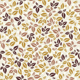 Leaves pattern. Simple leaves pattern. Stock Photos