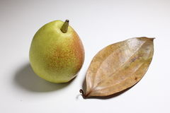 Leaves and pears Royalty Free Stock Photos