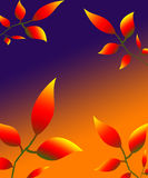 Leaves petals illustration autumn nature red yellow Stock Photo