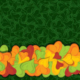 Leaves pop up border vector Royalty Free Stock Photos