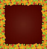Leaves pop up frame vector Stock Image