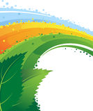 Leaves and rainbow. Conceptual image. Stock Images