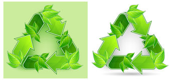 Leaves Recycle Symbol Stock Photos