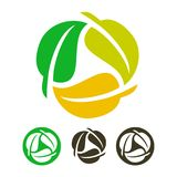 Leaves recycling icon. Ecology vector illustration isolated on white background Stock Image