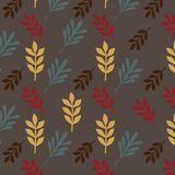 Leaves retro seamless pattern background vector. Eps10 Stock Photos