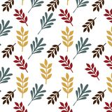 Leaves retro seamless pattern isolated background vector Stock Photo